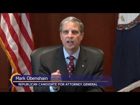 Mark Obenshain, Candidate for Attorney General, Answers Question on priorities