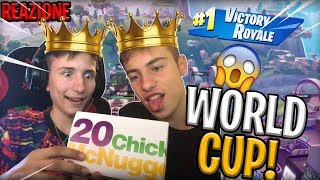 Reaction to FORTNITE's WORLD CUP By eating MCNuggets! BIG BUGHA😂💪