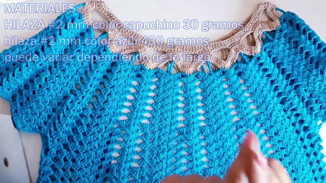 Blusa Para Dama A Crochet En Todas Las Tallas En Zig Zag Parte 1 Youtube