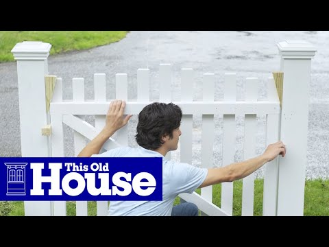 how to build a garden gate this old house youtube. Black Bedroom Furniture Sets. Home Design Ideas