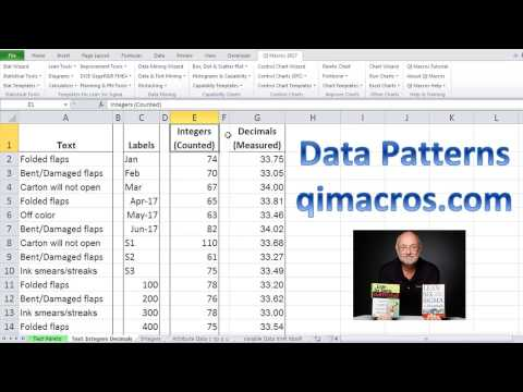 Excel Data Patterns for Six Sigma