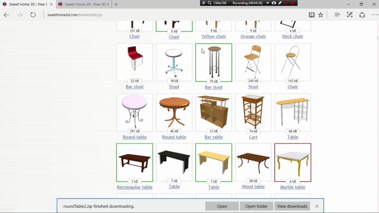 SWEET HOME 3D CLASS 3 . HOW TO DOWNLOAD FURNITURE IN SWEET HOME 3D ...