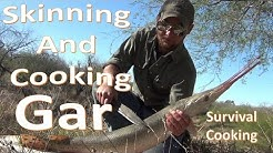 Cleaning and Cooking Gar on a Mesquite Plank
