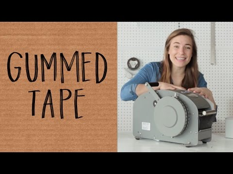 How To Use Gummed Paper Tape