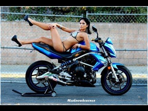Kawasaki ER6N Standard Motorcycle - Sexy Girl Motorcycle Modelling Photo Shoot
