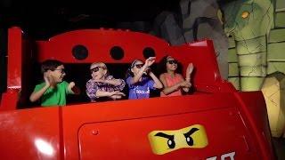 Inside LEGO NINJAGO The Ride at LEGOLAND Florida