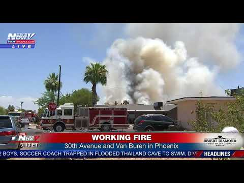 PHOENIX HOUSE FIRE: SkyFOX, Photojournalist Rick Davis at the scene (FNN)