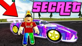 HOW TO GET the NEW SECRET CAMO in VEHICLE SIMULATOR! (Roblox)