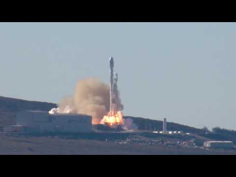 Falcon 9 Rocket Launch from Vandenberg Air Force Base California