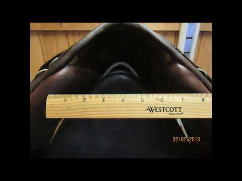 "Stubben Parzival D Used Dressage Saddle 17"" W 21846"