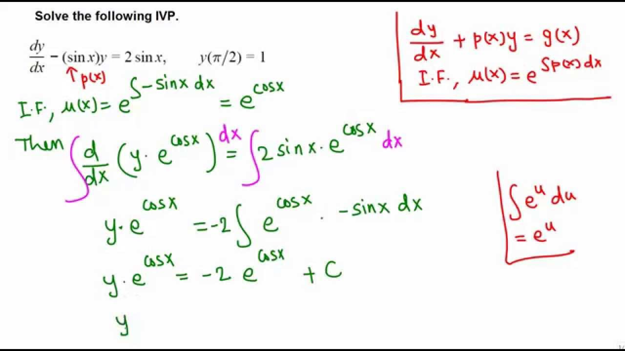 Ivp First Order Linear Differential Equation Example 2
