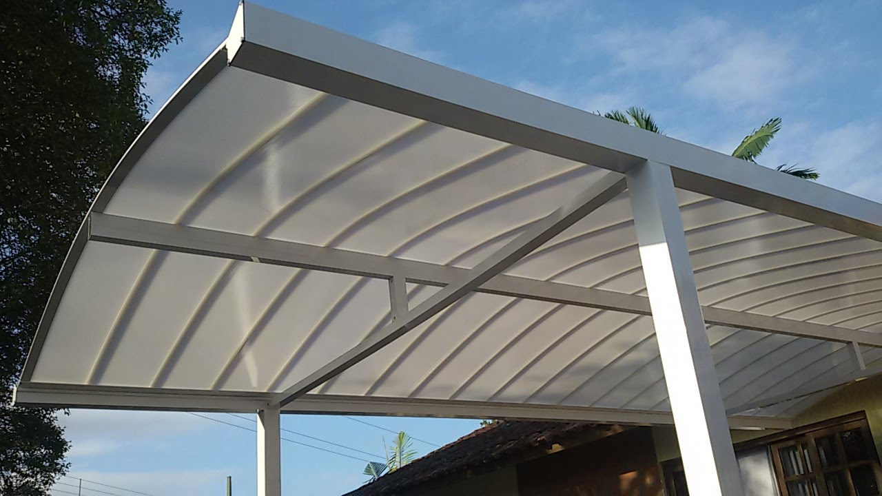 Abrigo de carro kit policarbonato click curvo 2500x5000 mm - Perfiles de aluminio para toldos ...