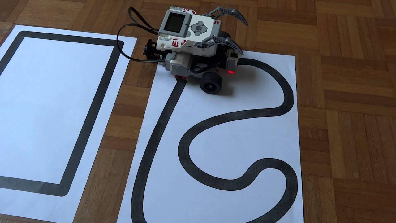 Smooth Lego EV3 Line-Follower + Code-Screenshot in HD