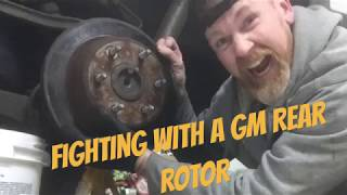 Removing a difficult rear rotor from a GM Truck / SUV