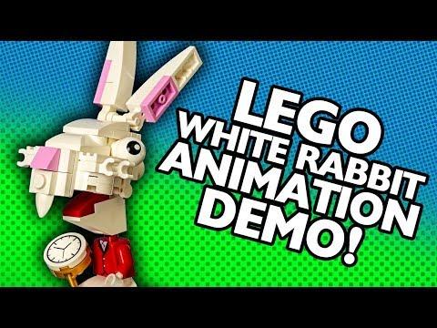 LEGO White Rabbit Animation Demo (Alice's Adventure's in Wonderland)