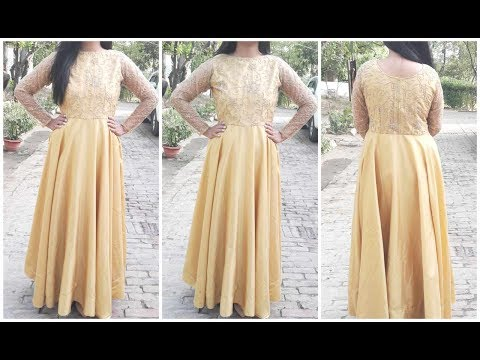 Long Gown Measurement ,Cutting ,Stitching | DIY
