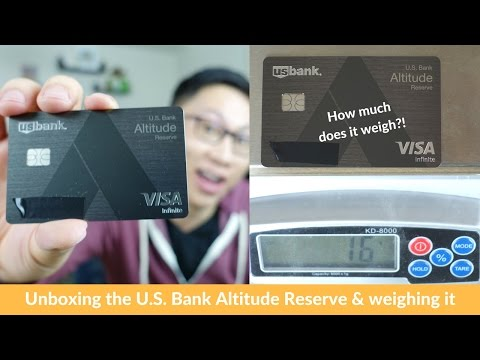 U.S. Bank Altitude Reserve Unboxing + Shutdown Warning
