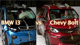 Chevy Bolt vs BMW i3 crash tests. Guess which didn't make the top safety pick?