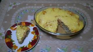 Запекаем в духовке быстрый пирог из лаваша с мясом и сыром