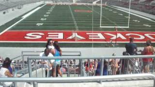 Brief view of Ohio Stadium (the