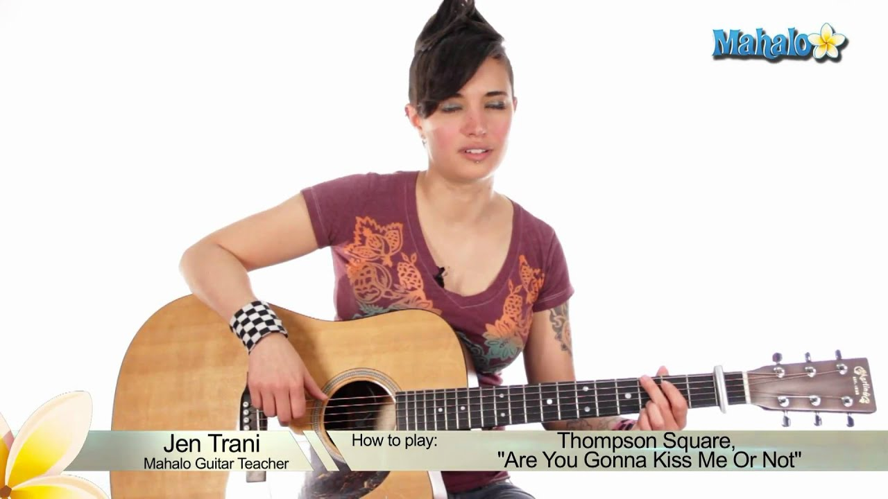 how to play kiss me slowly on guitar