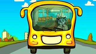 Песенки для котят - Колёса автобуса | Считалочки - Три котенка | Мультик для малышей