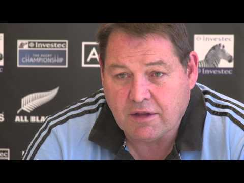 2013 Investec Rugby Championship - Steve Hansen speaks to media in Johannesburg