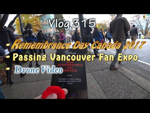 Remembrance Day Canada 2017 Vancouver Victory Square Parade And Chinatown With Drone Video