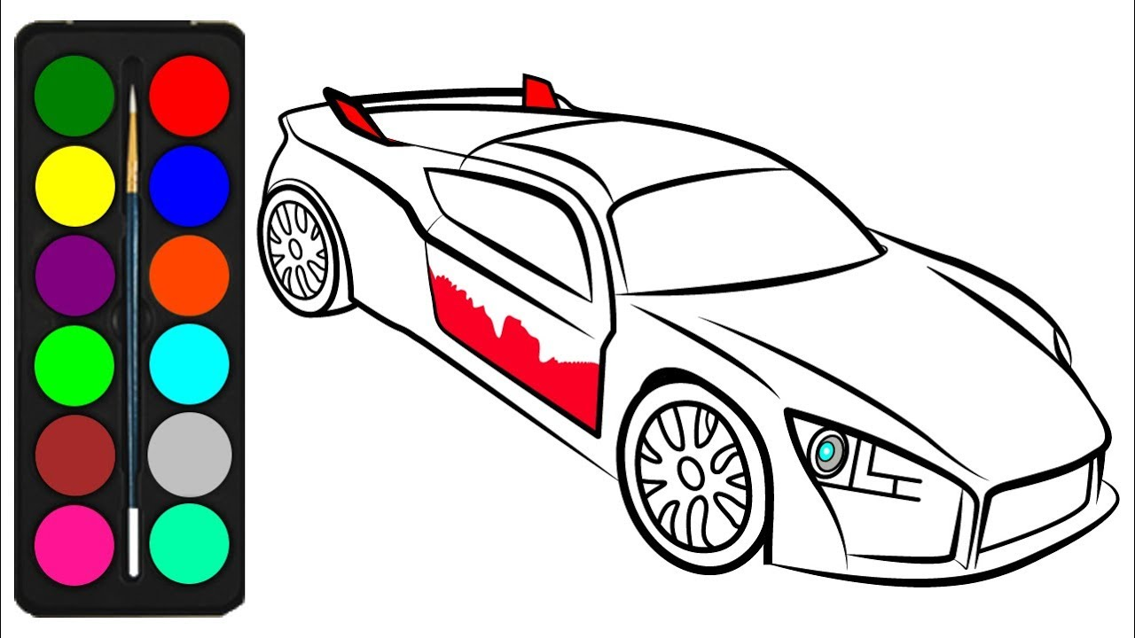 Car Coloring Pages for Kids - Drawings of Car Easy - Car ...