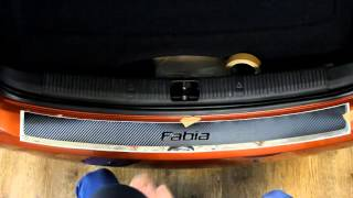 Наклейка на задний бампер для Skoda Fabia (Шкода Фабия)