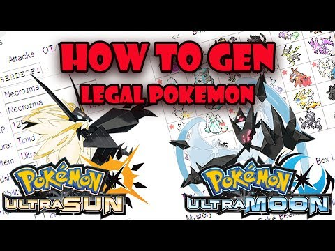 How To PokeGen Legal Pokemon In Pokemon Ultra Sun and Ultra