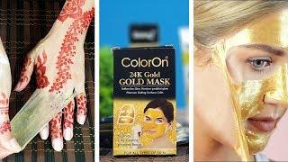 "Peel Off ""GOLD MASK"" for Instant Golden Glow, Open Pores & Black Heads Urdu Hindi"