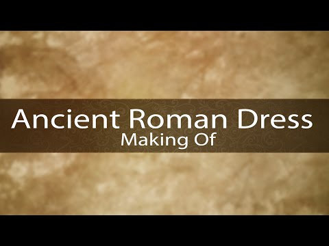 Making an Ancient Roman dress with tunic and palla