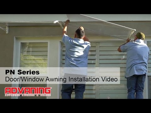 advaning-|-pn-series-door/window-polycarbonate-awning-installation-video