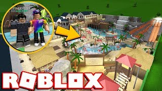 I BROKE INTO FROGGYHOPZ's *INSANE* BLOXBURG WATER PARK! (Roblox)