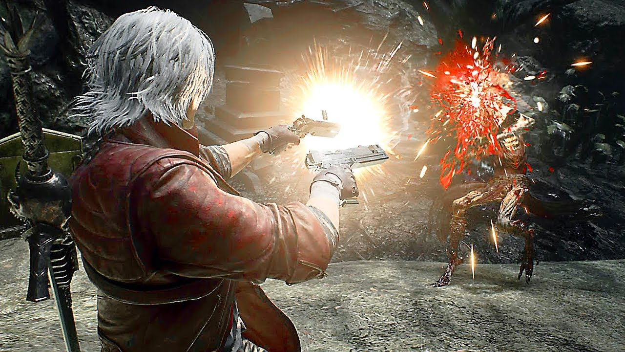 DEVIL MAY CRY 5 - Dante Vs Cavaliere Angelo Boss Fight Gameplay (TGS 2018)