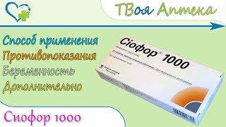 постер к видео Сиофор 1000 (метформин) показания, описание, отзывы