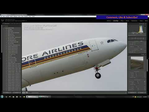 Aviation Photography Workflow - Singapore Airlines A330