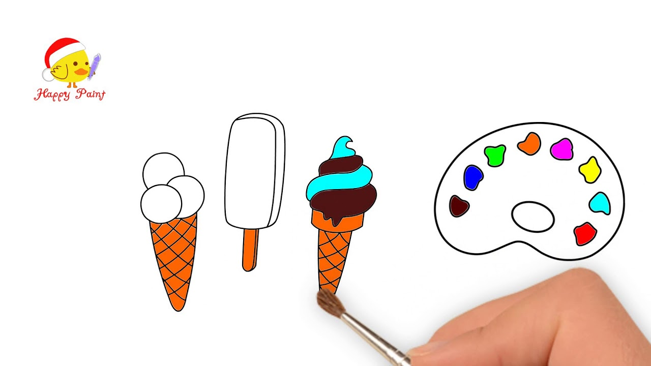 Gambar Es Krim Drawing The Ice Cream Happypaint Youtube