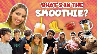 WHAT's IN THE SMOOTHIE CHALLENGE 🤮 | DAMNFAM |