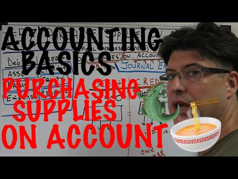 Accounting for Beginners #57 / Purchase Supplies on Account