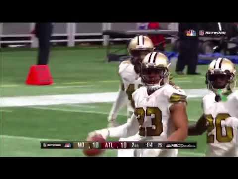 0658b73f563 Julio Jones Hits Marshon Lattimore After Interception - YouTube