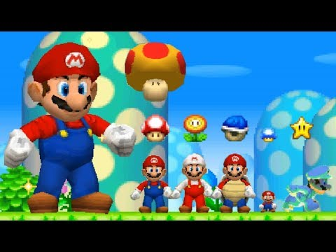 New Super Mario Bros DS - All Power Ups