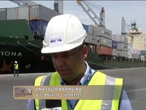 Porto de Luanda ganha novos equipamentos | Primeiro Jornal | TV Zimbo |