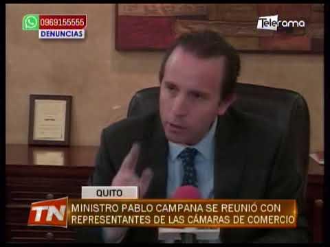 Ministro Pablo Campana se reunió con representantes de las Cámaras de Comercio
