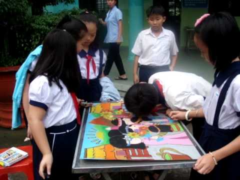 Hội thi vẽ tranh lớp 4/4 trường tiểu học Đông Ba Phú nhuận