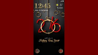 Galaxy Theme - Happy New Year Animated Lockscreen