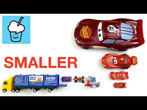 Learning smaller and smaller for kids with Cars tomica トミカ