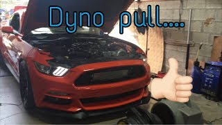 Procharged 2015 GT on dyno......next phase coming!
