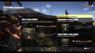 Ghost Recon Wildlands CrossBow Challenge Solo Challenge 1